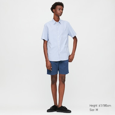Men Chino Shorts, Blue, Medium