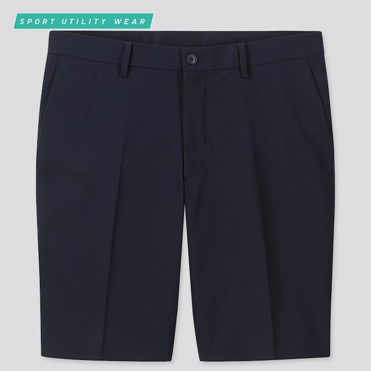 Men Ultra Light Shorts, Navy, Large