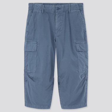 Men 3/4 Roll-Up Cargo Shorts (Online Exclusive), Blue, Medium