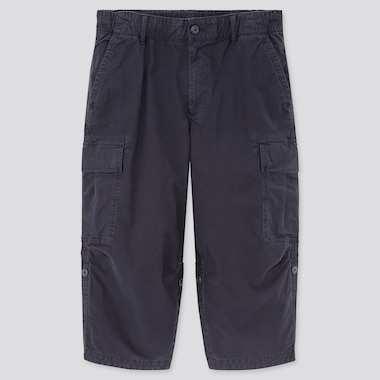 Men 3/4 Roll-Up Cargo Shorts (Online Exclusive), Navy, Medium