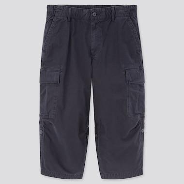 Men 3/4 Roll-Up Cargo Shorts (Online Exclusive), Navy, Medium