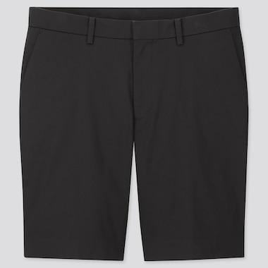 Men Stretch Slim-Fit Shorts, Black, Medium