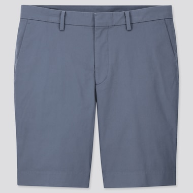 Men Stretch Slim-Fit Shorts, Blue, Medium