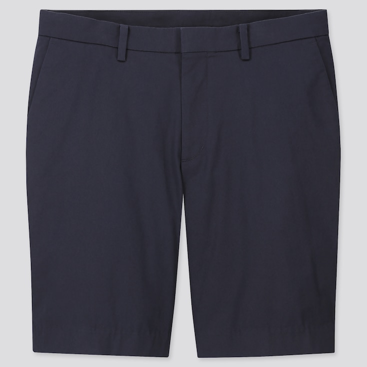 Men Stretch Slim-Fit Shorts, Navy, Large