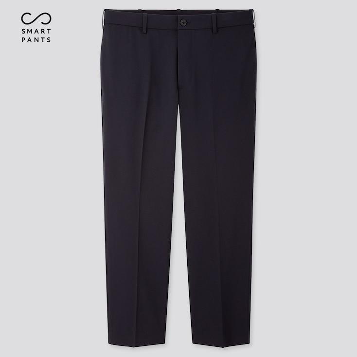 Men Smart 2-Way Stretch Ankle-Length Pants, Navy, Large