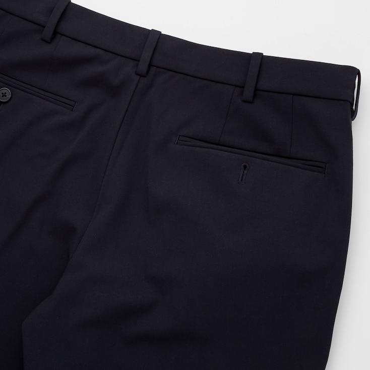 Men Smart 2-Way Stretch Ankle-Length Pants, Gray, Large