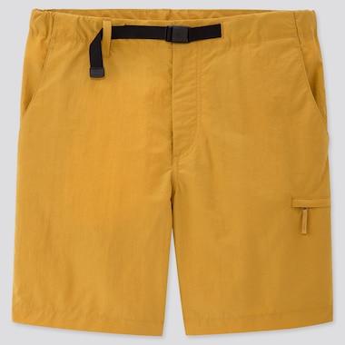 Men Nylon Active Shorts, Yellow, Medium