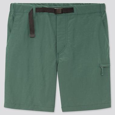 Men Nylon Active Shorts, Green, Medium