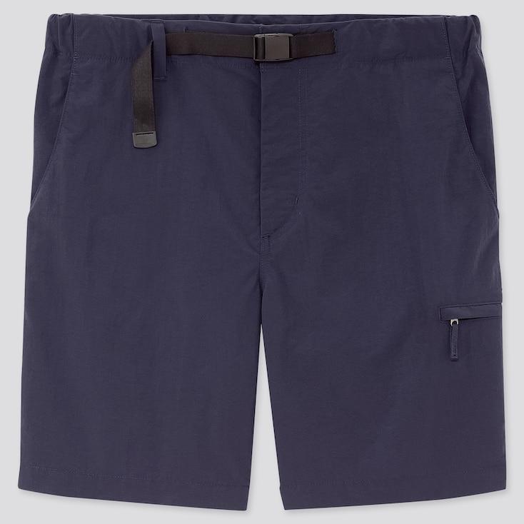 Men Nylon Active Shorts, Navy, Large