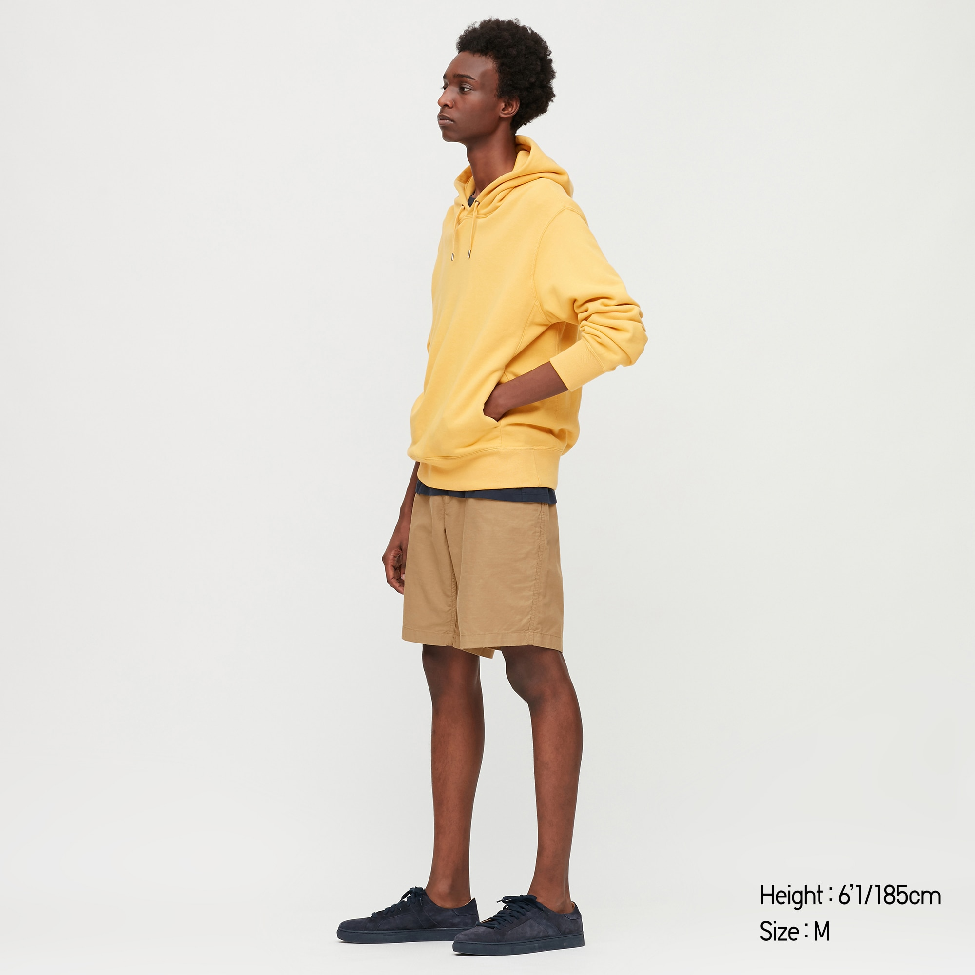 uniqlo men linen blended shorts