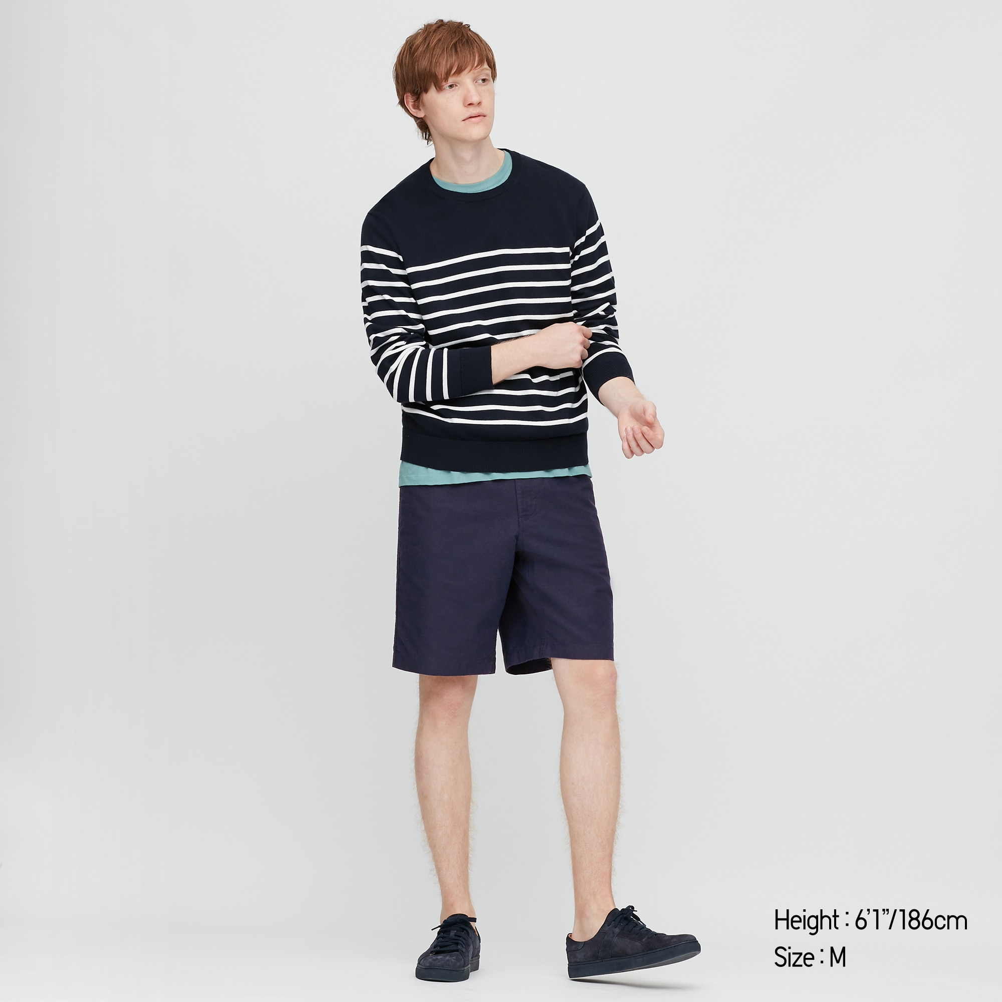 Men Linen Blend Shorts