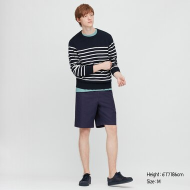 Herren Leinenmix Shorts