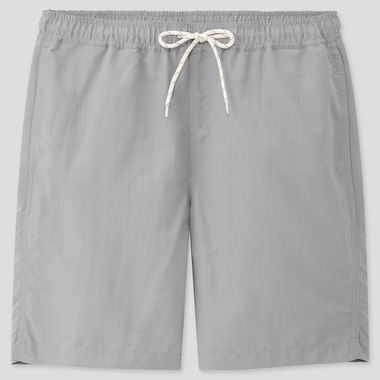 Men Swim Active Shorts, Gray, Medium