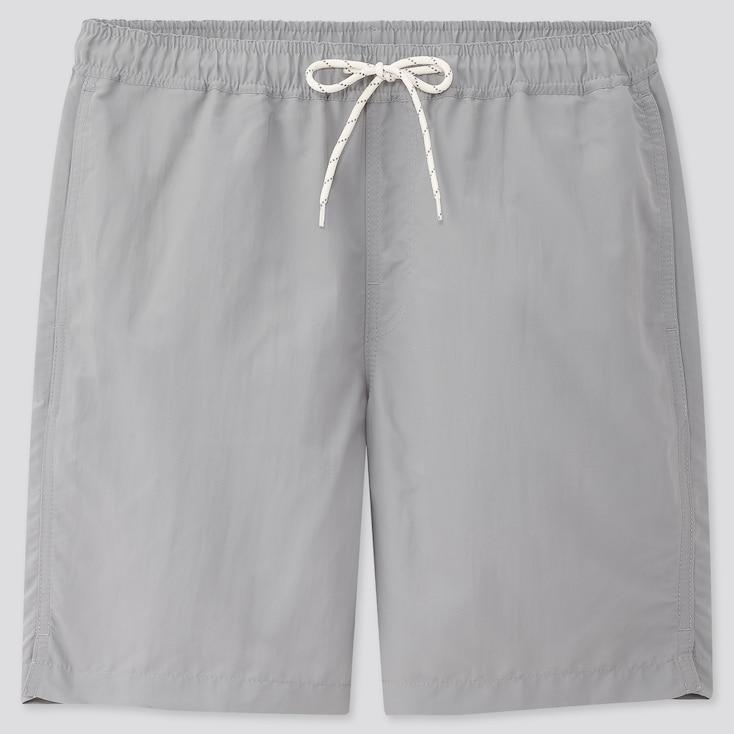 Men Swim Active Shorts, Gray, Large