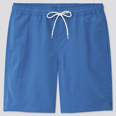 Men Swim Active Shorts, Blue, Medium