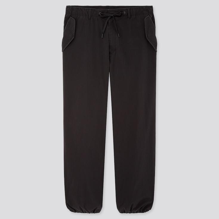 Men Ezy Wide-Fit Parachute Jogger Pants, Black, Large