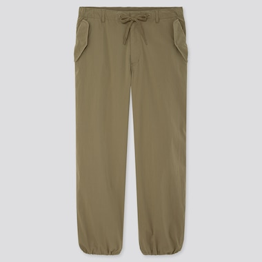 Men Ezy Wide-Fit Parachute Jogger Pants, Olive, Medium