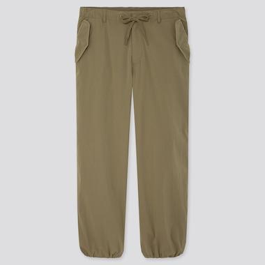 Men Ezy Wide-Fit Parachute Jogger Pants, Olive, Medium