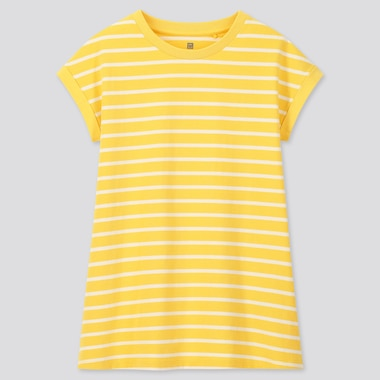Girls Striped Short Sleeved Tunic