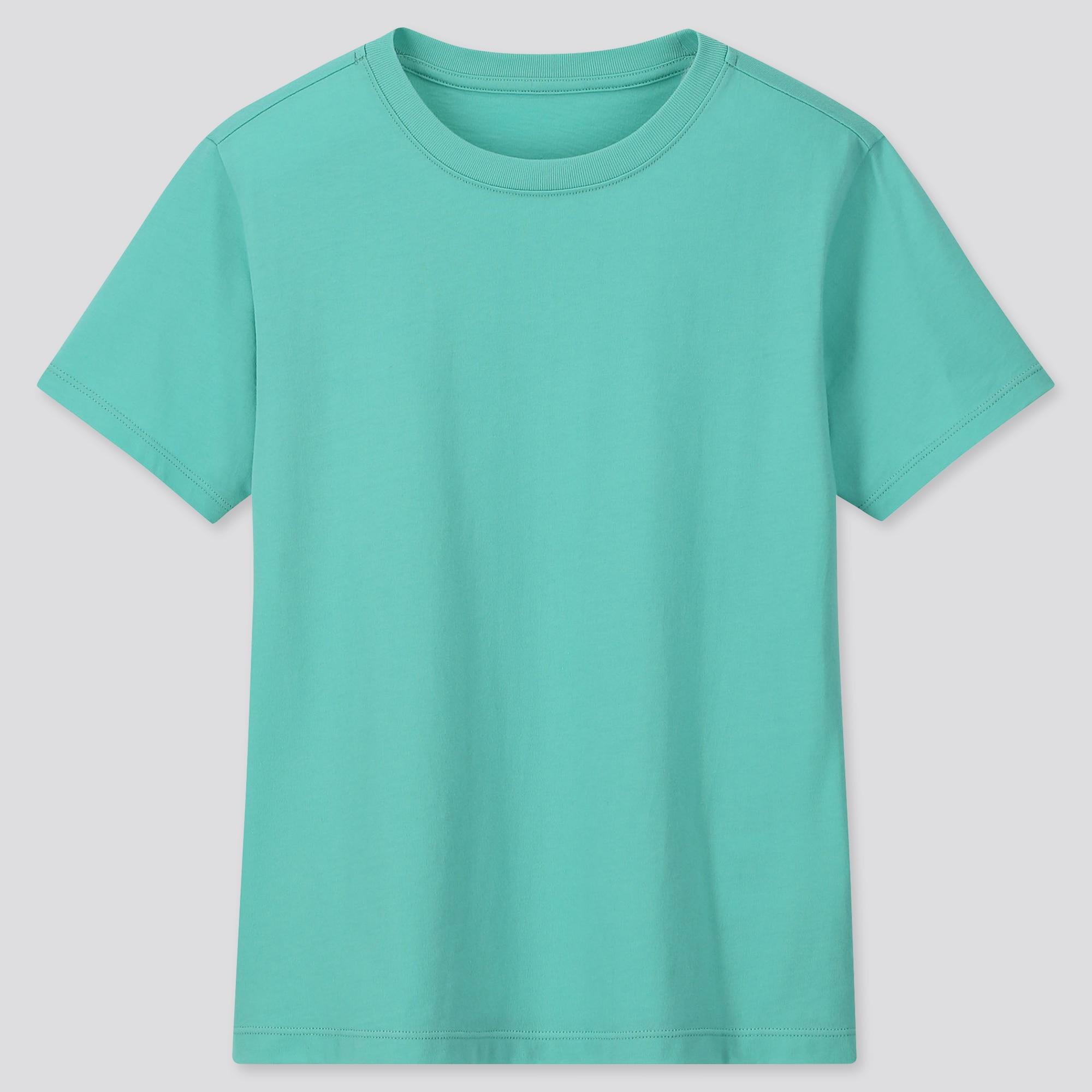 Kids Cotton Colour Crew Neck Short Sleeved T-Shirt