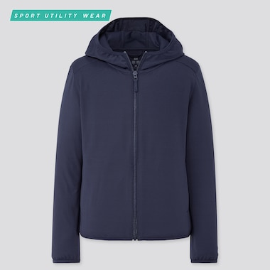 Kids Airism Uv Cut Mesh Hoodie (Online Exclusive), Navy, Medium