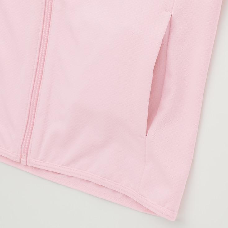 Kids Airism Uv Protection Mesh Hoodie (Online Exclusive), Blue, Large