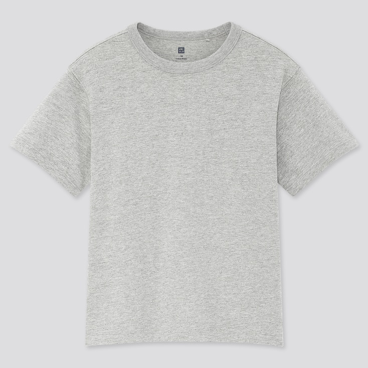 Kids Relax Fit Crew Neck Short-Sleeve T-Shirt, Gray, Large