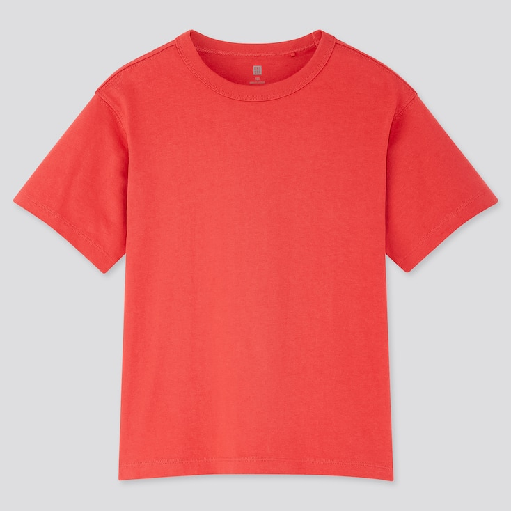 Kids Relax Fit Crew Neck Short-Sleeve T-Shirt, Red, Large
