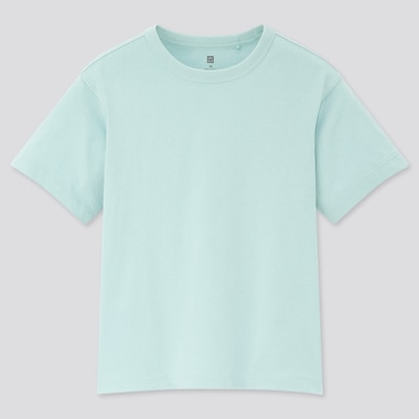 Kids Relax Fit Crew Neck Short-Sleeve T-Shirt, Light Blue, Medium