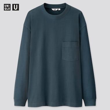 Uniqlo U T-shirt à Col Rond Manches Longues Homme
