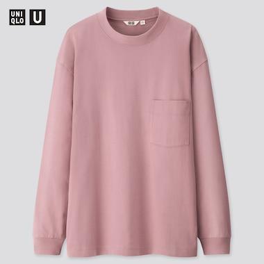 Men U Crew Neck Long-Sleeve T-Shirt, Purple, Medium