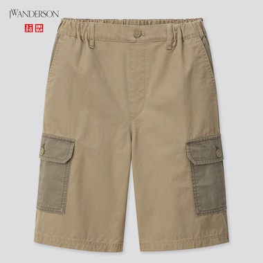 Kids Cargo Shorts (Jw Anderson), Olive, Medium