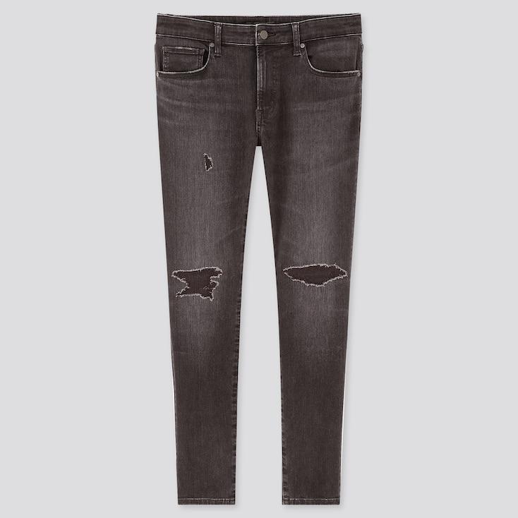 Men Ultra Stretch Skinny Fit Jeans, Dark Gray, Large