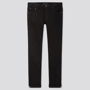 Men Selvedge Stretch Slim Fit Jeans