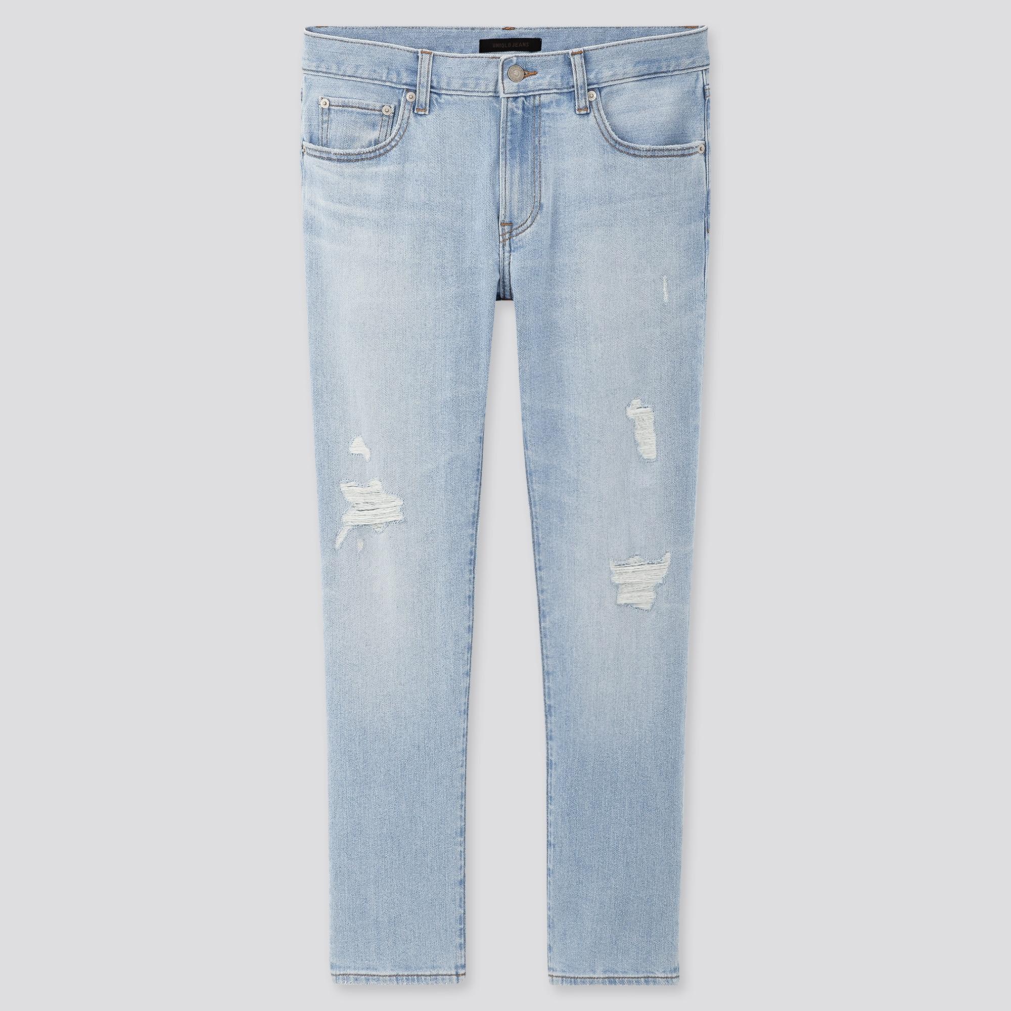 Men Slim Fit Distressed Jeans