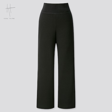 Women Wide Ankle-Length Pants (Hana Tajima) (Online Exclusive), Black, Medium