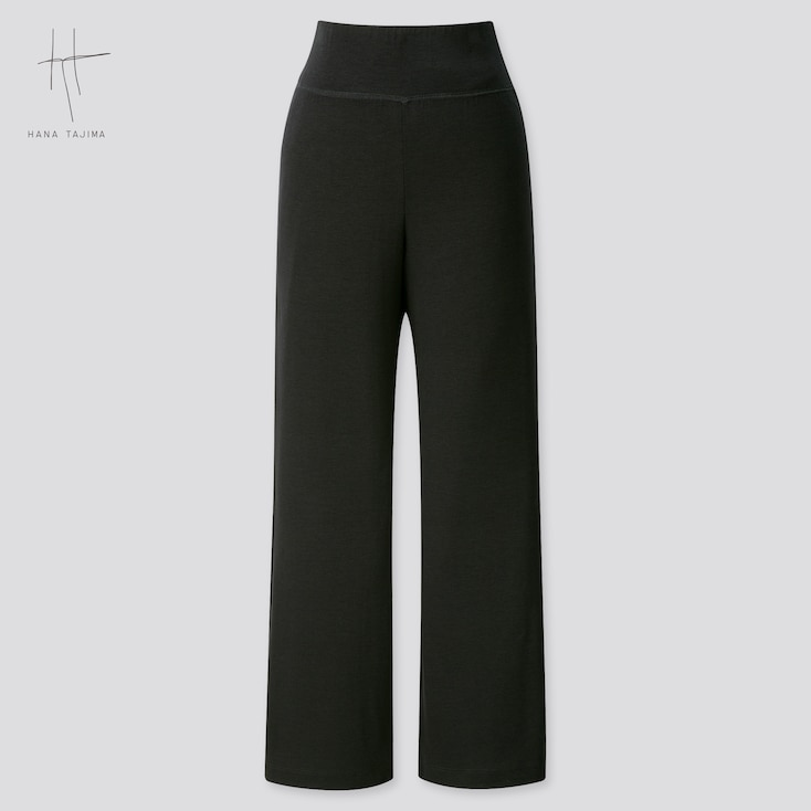 Women Wide Ankle-Length Pants (Hana Tajima) (Online Exclusive), Black, Large