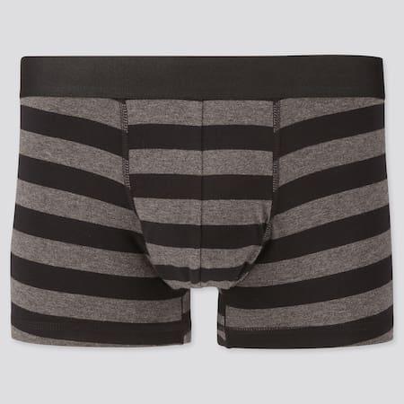 Men Supima Cotton Low Rise Striped Boxer Briefs
