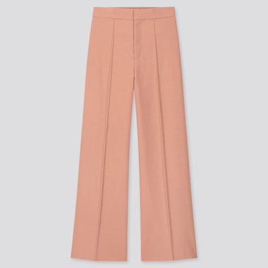 Women High-Waisted Wide Pants, Pink, Medium