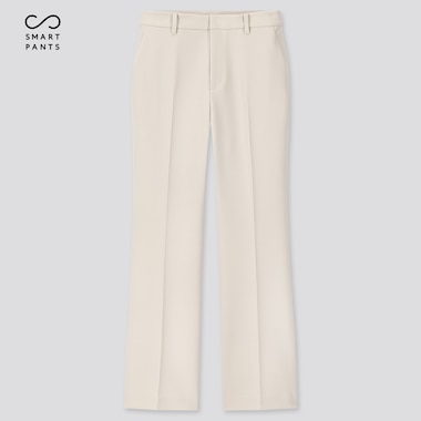 Women Ezy 2-Way Stretch Flare Ankle-Length Pants, Off White, Medium