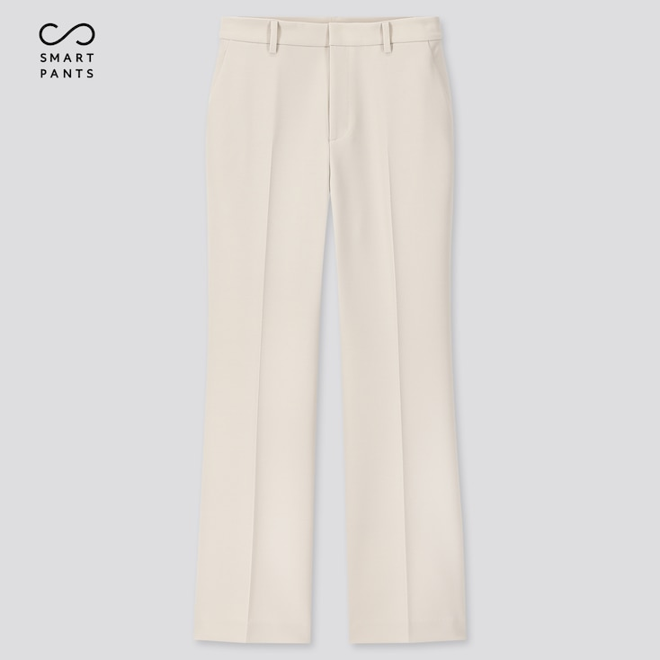 Women Ezy 2-Way Stretch Flare Ankle-Length Pants, Off White, Large