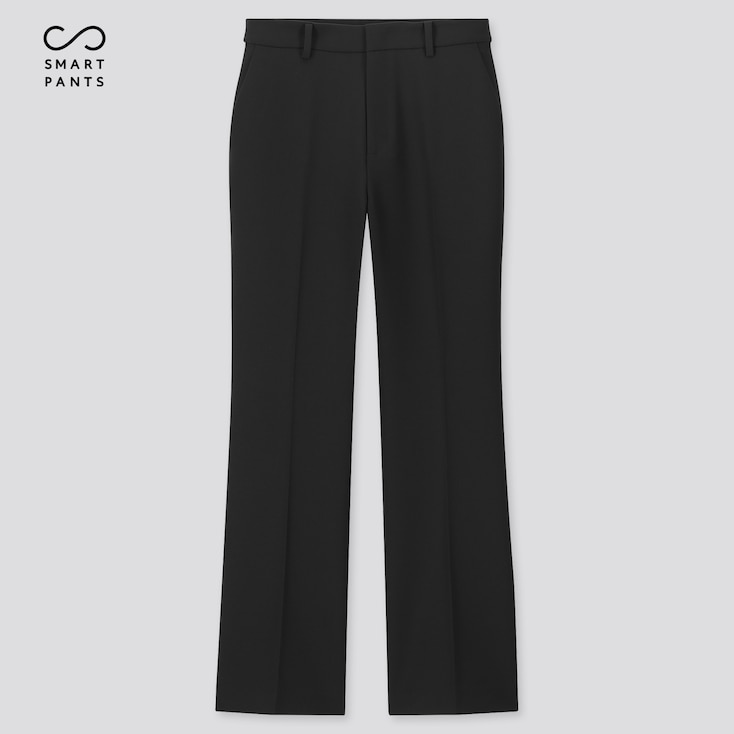 Women Ezy 2-Way Stretch Flare Ankle-Length Pants, Black, Large