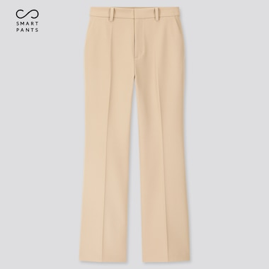 Women Ezy 2-Way Stretch Flare Ankle-Length Pants, Beige, Medium