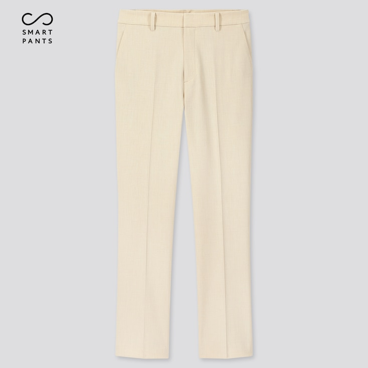 Women Ezy 2-Way Stretch Ankle-Length Pants, Off White, Large