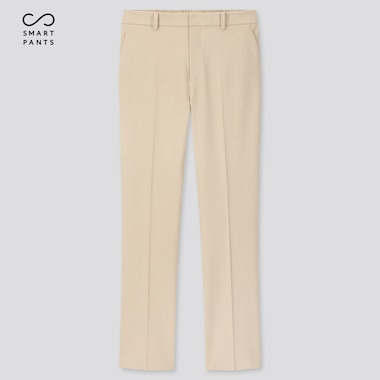 Women Ezy 2-Way Stretch Ankle-Length Pants, Beige, Medium