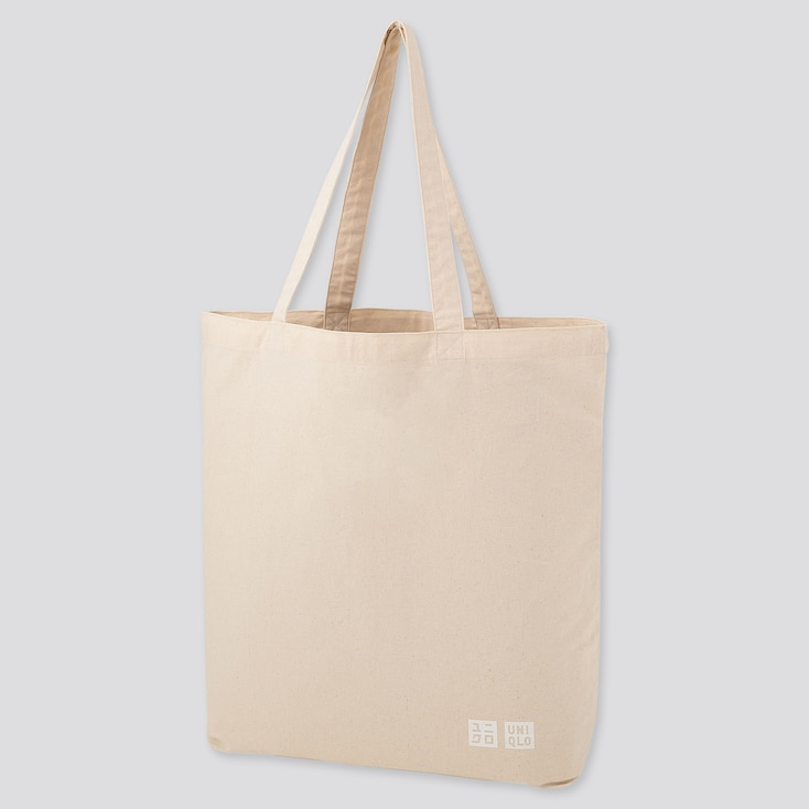 Medium Eco-Friendly Tote Bag, Off White, Large