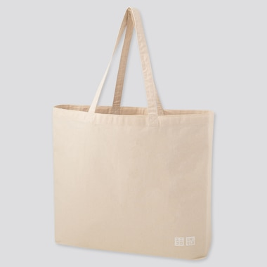 LARGE CANVAS TOTE BAG, OFF WHITE, medium