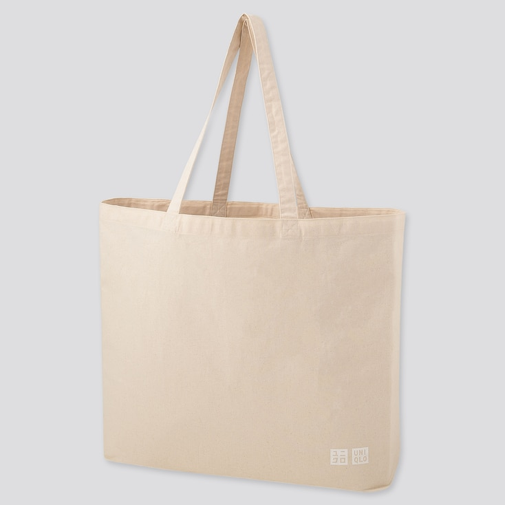 Large Eco-Friendly Tote Bag, Off White, Large