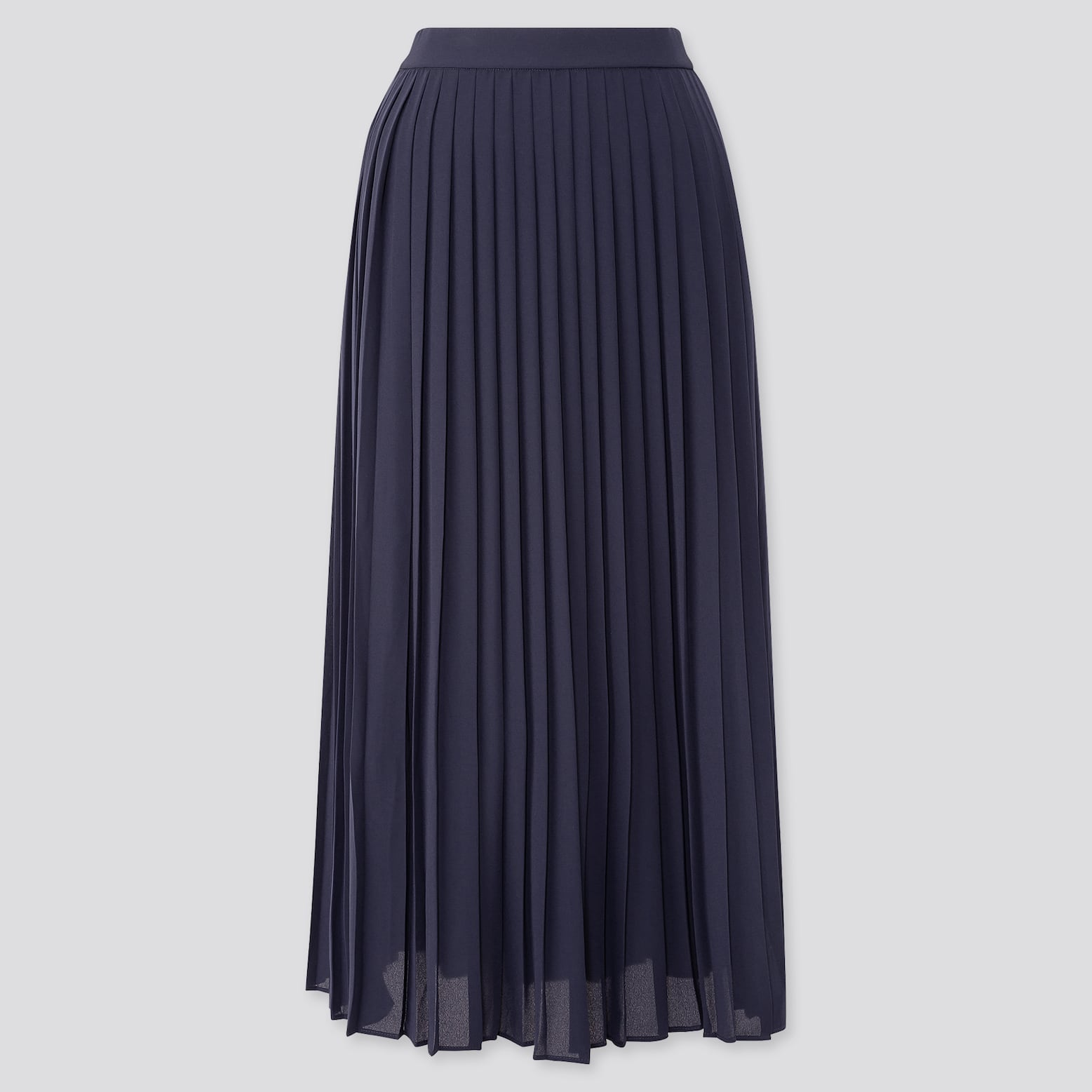 Chiffon Pleated Long Skirt by Uniqlo