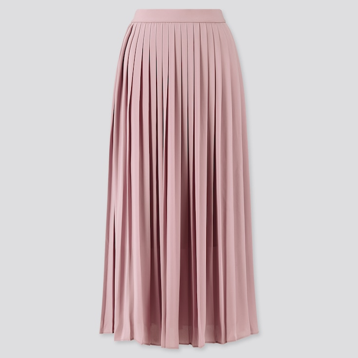Women Chiffon Pleated Maxi Skirt by Uniqlo